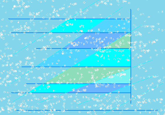 Wind and snow right to the window Abstract art アブストラクトアート