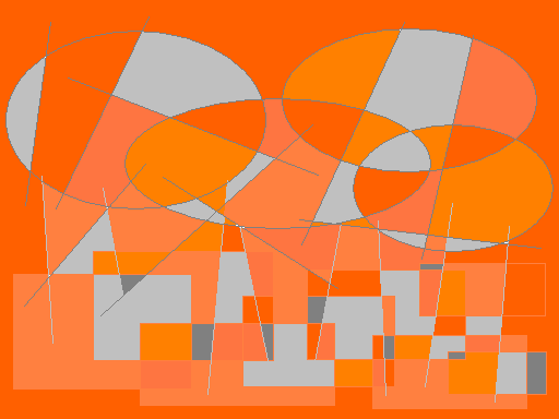 Leafs autumn Abstract art アブストラクトアート