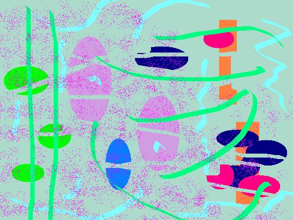 colorful surf Abstract art アブストラクトアート
