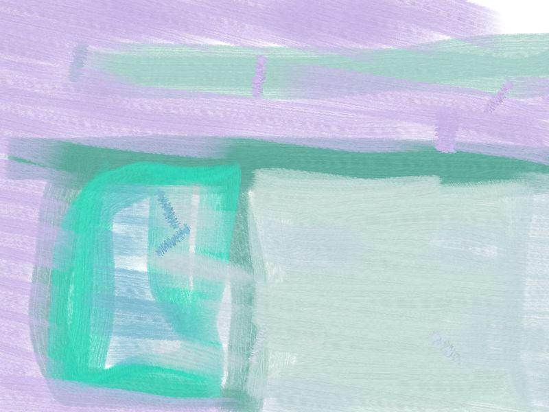 Moon of young world Abstract art アブストラクトアート