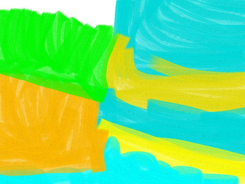 Wind of warmth Abstract art アブストラクトアート