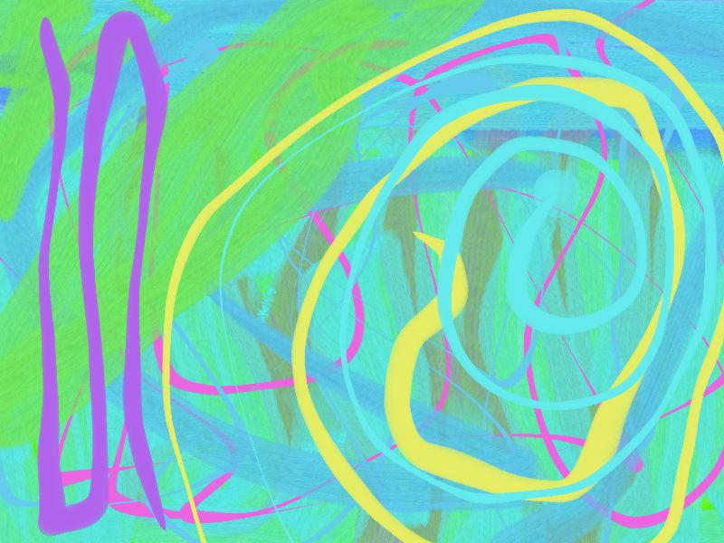 Summer wind Abstract art アブストラクトアート