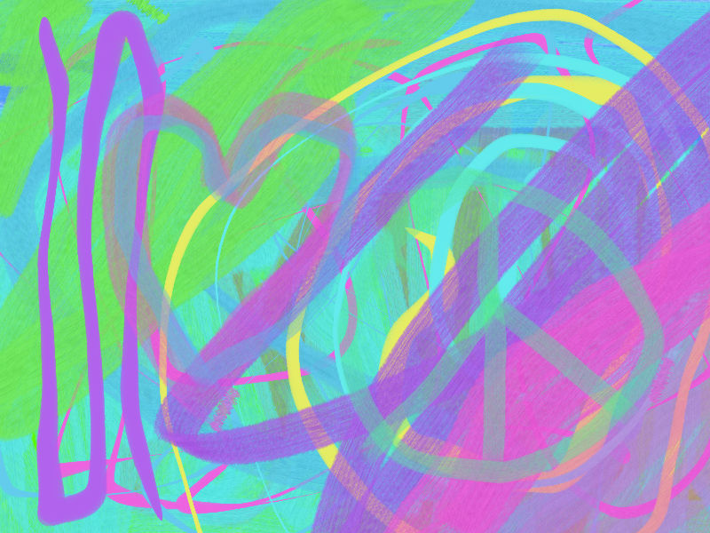 Summer wind here Abstract art アブストラクトアート