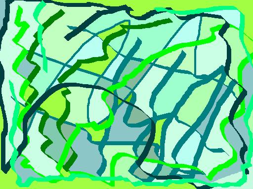 Seaweed Abstract art アブストラクトアート