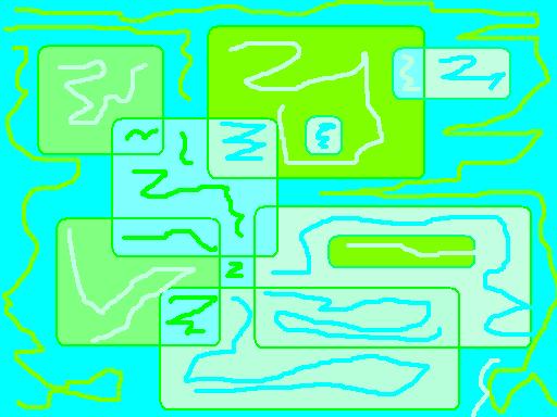 Wind near the lake Abstract art アブストラクトアート
