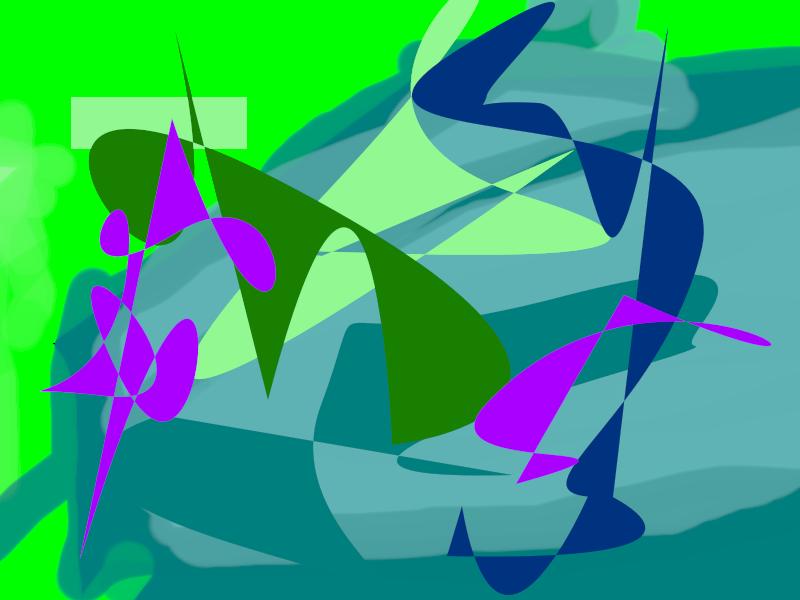 wind from far away Abstract art アブストラクトアート