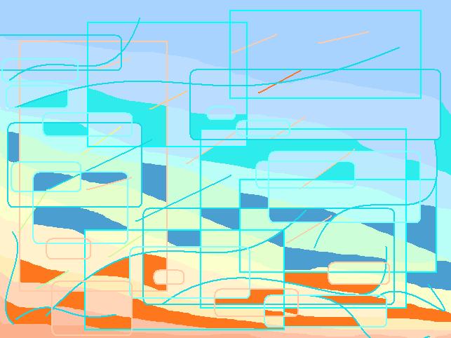 Evening sky Abstract art アブストラクトアート