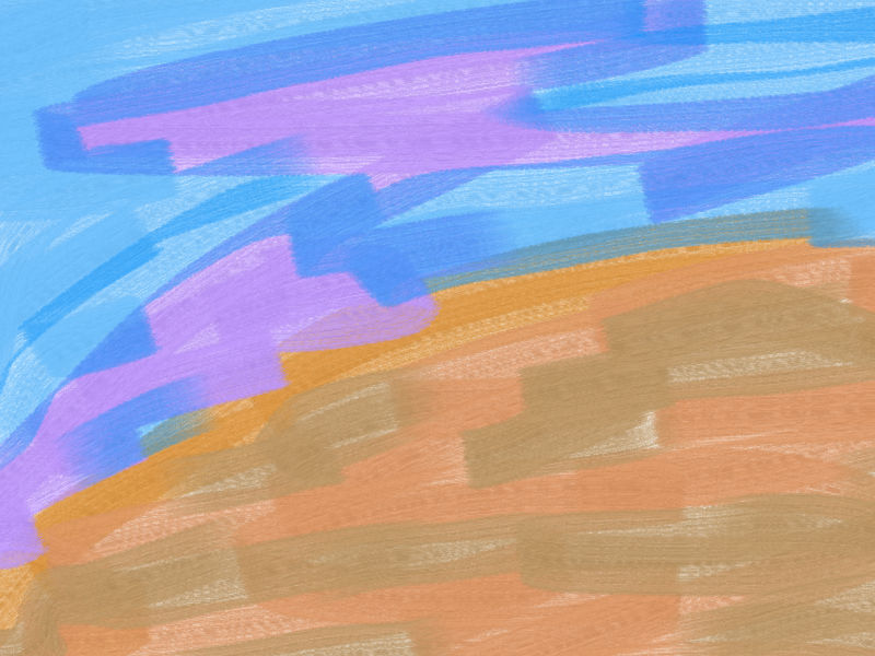 Running clouds Abstract art アブストラクトアート