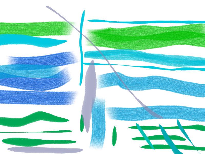 river bank Abstract art アブストラクトアート