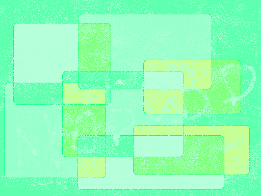 very green Abstract art アブストラクトアート