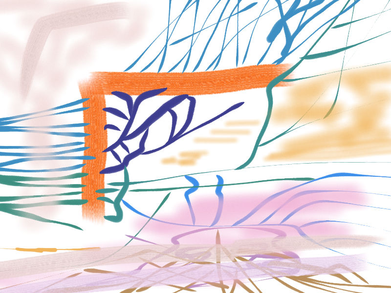 Near the river Abstract art アブストラクトアート