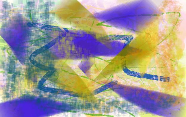 headlights Abstract art アブストラクトアート