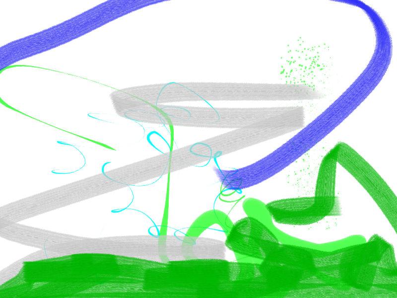 Wind Abstract art アブストラクトアート