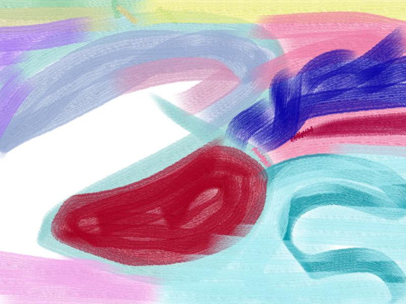 On the wind Abstract art アブストラクトアート