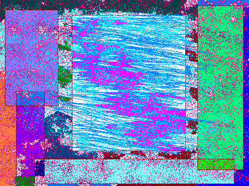 Snowstorm in the neon city Abstract art アブストラクトアート