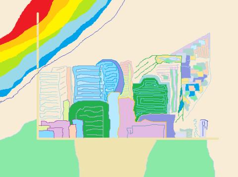 Horizon Abstract art アブストラクトアート
