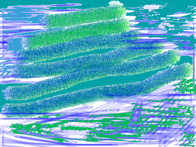 Warm wind Abstract art アブストラクトアート