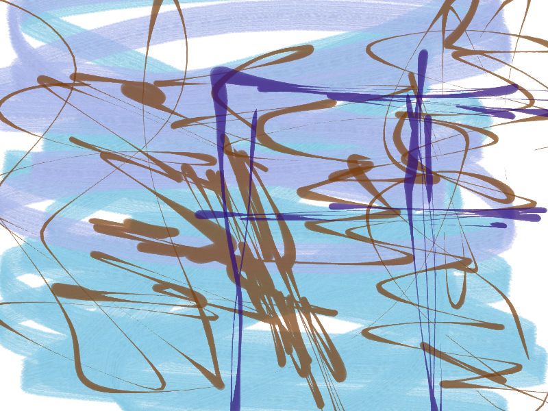 Branches like that behind the window Abstract art アブストラクトアート