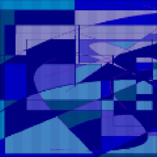 playing ocean Abstract art アブストラクトアート