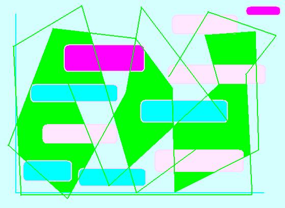 Folding screen Abstract art アブストラクトアート